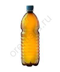 Бутылка 1 л. (коричневая рифленая)